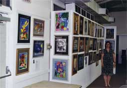 Art show at West Hollywood Community Center